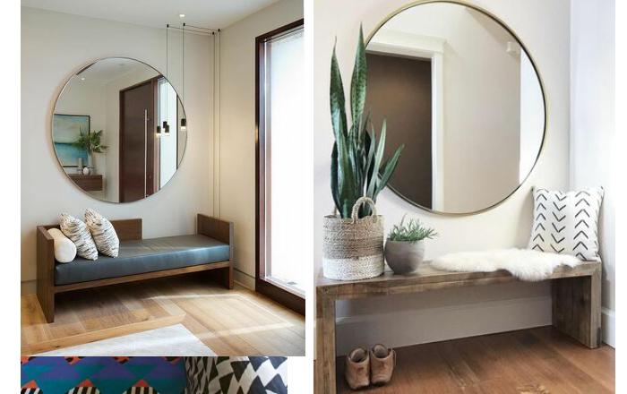 آینه-گرد-دیواری